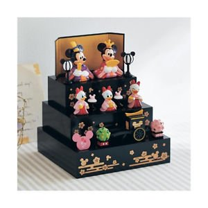Christmas Disney Mickey & Minnie Ivent Hina doll Dankazari Figures from JAPAN FS