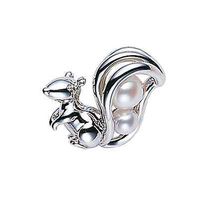 MIKIMOTO Squirrel Akoya Pearl pin Brooch PB-1951S Silver from Japan FS NEW Gift