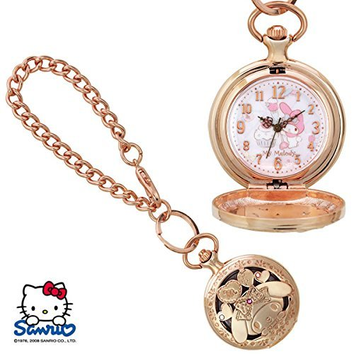 NEW My melody Pocket Watch SR-M02-MM F/S Present SANRIO from JAPAN