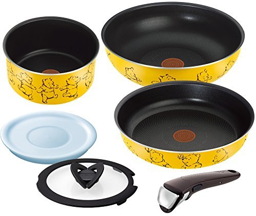 F/S T-fal pan frying pan set handle the take Disney Winnie the Pooh yellow set 6