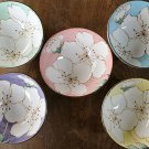Mino ware SAKURA Cherry blossom 5 colors rice bowl cup from JAPAN F/S