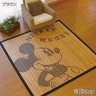 Disney Mickey Mouse Bamboo Rug Wafu Japanese style Mat Carpet JAPAN Summer!