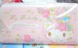Sanrio Mymelody KOTORI flower and bird series long wallet Purse pink F/S NEW