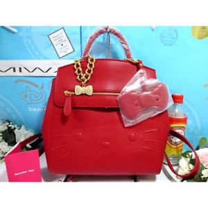�1 stock only Kawaii 2WAY Hello kitty Samantha Vega rucksack Tote Hand bag REDFS