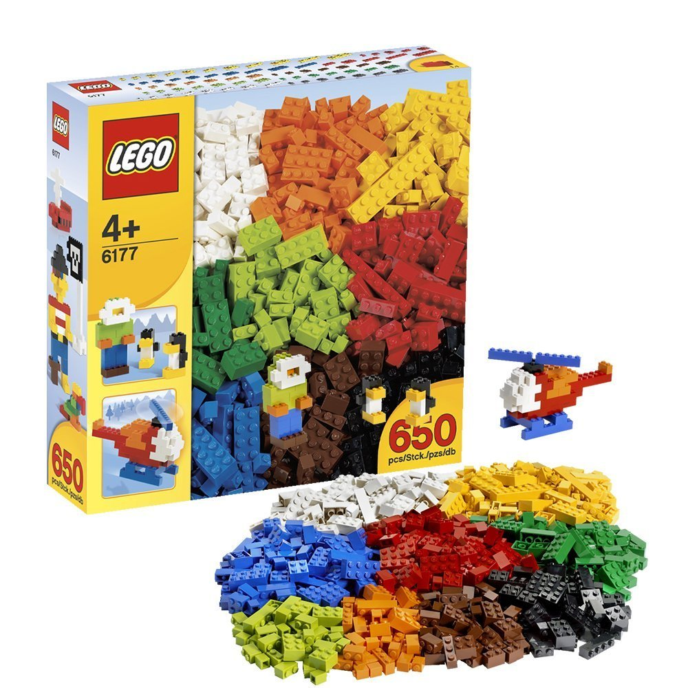 2008 Lego 4 + Basic Bricks 650 Pcs 6177 from Japan NEW Free Shipping