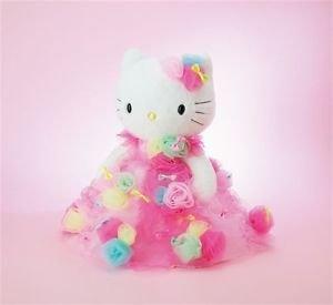 "NEW Sanrio Hello Kitty Wedding Doll 17.7"" by Japanese designer Dress Plush doll"