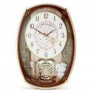 Hello Kitty Melody Pendulum Radio Wall Clock Glockenspiel Automaton Sanrio NEWFS