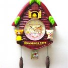 Rilakkuma Small log house clock pendulum Wall clock Aloha Brown Japan NEW FS