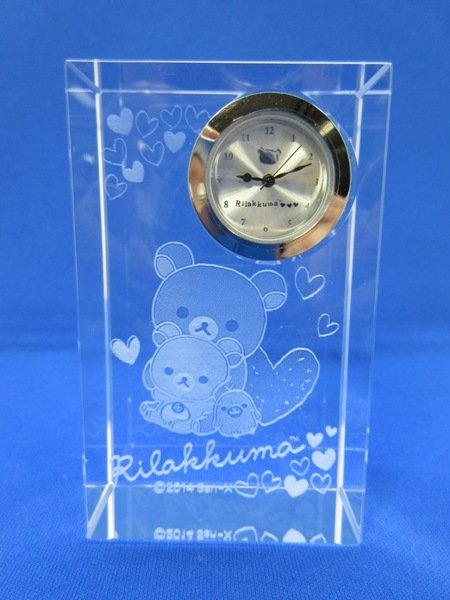 Offer! San-X 2014 Rilakkuma Crystal clock Table Glass clock Japan limited GiftFS