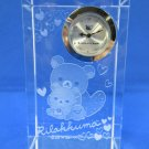 Offer! San-X 2014 Rilakkuma Crystal clock Table Glass clock Japan limited GiftFS