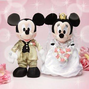 Disney Minnie Mickey wedding doll stuffed bridal gift wedding gift from JAPAN FS