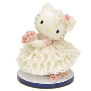 Hello Kitty Pottery Ceramic Lace Doll Ornament Stuffed JapanLimited PlushFigures
