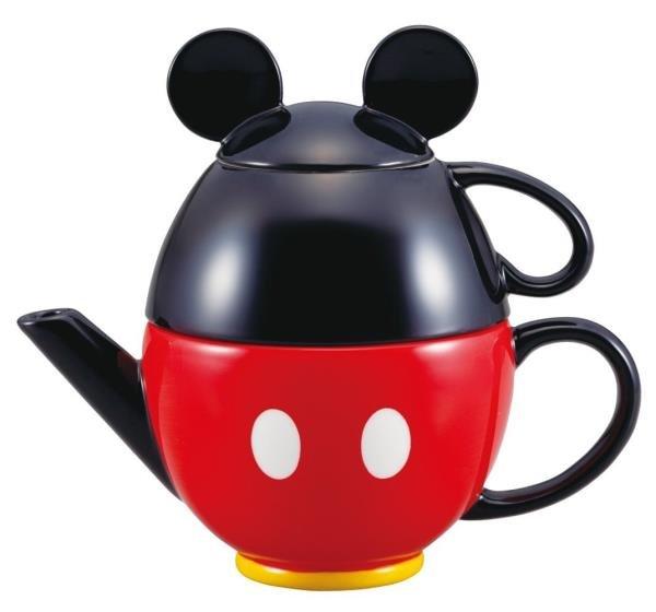 NEW Disney Store Japan Christmas Mickey Mouse teapot set (pot and mug) SAN217 FS