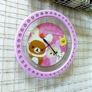 �Kawaii Rilakkuma Heart jewelry Wall Clock Pink from JAPAN FS�