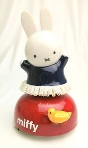 FREE SHIPPING!! Miffy 60th Ceramic Porcelain Lace Doll Music Box Plush Figure