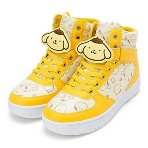 Pomupomu pudding character clip with high-cut sneakers L size US 7.5/UK 6 SANRIO