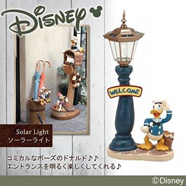 Disney Donald Duck welcome garden object Solar light statue Stand Lamp NEW Japan