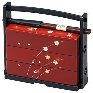 Free shipping HAKOYA Cherry Blossom Bento lunch Box case Sakura 06423 RED JAPAN