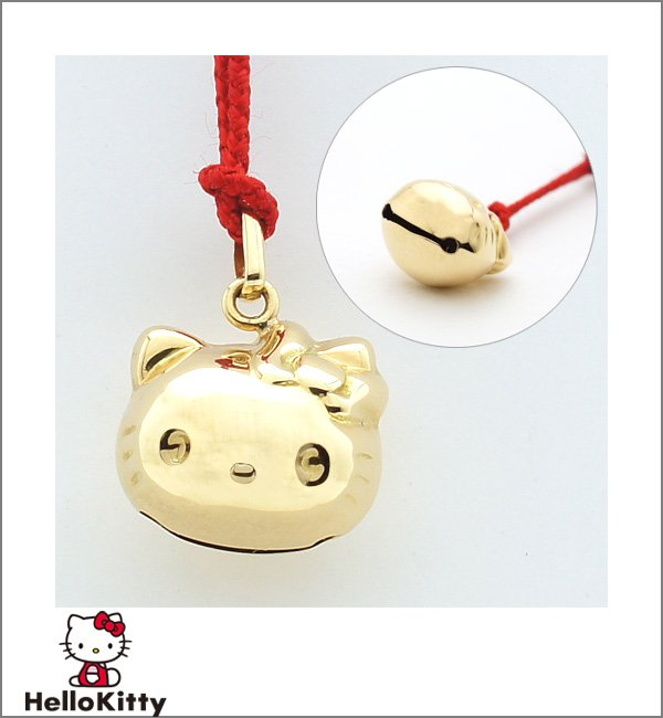 Hello Kitty 18 Gold Netsuke Cell Phone, Mobile phone Strap from JAPAN NEW FS