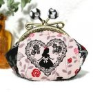 ❦Alice's Adventures in Wonderland Pink Coin purses Wallet handmade purses NEW FS