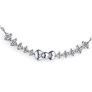 STOCK! Hello Kitty Sweet 10 Diamond Pendant Necklace Platinum 900 Sanrio FS NEW