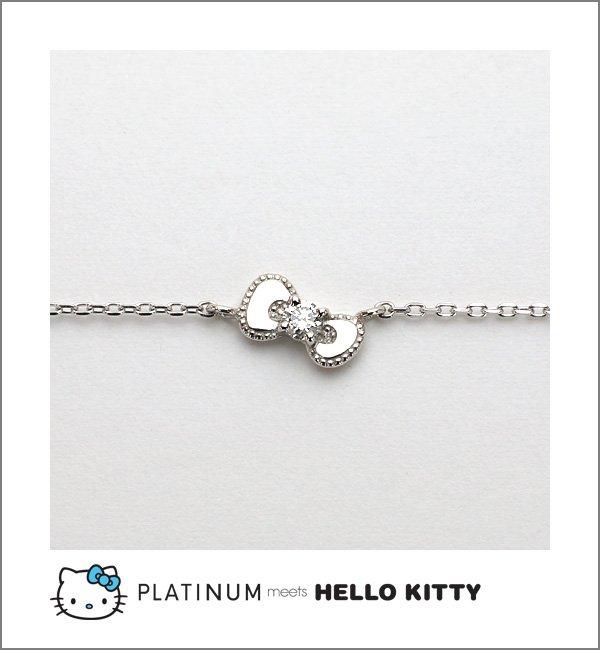 STOCK! Hello Kitty Platinum Diamond Bracelet Bangle Platinum 900 Sanrio FS