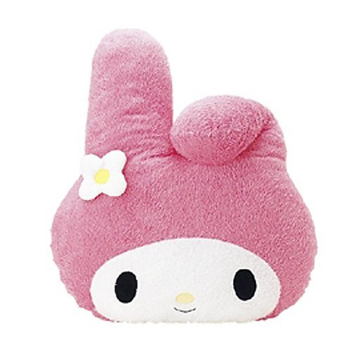 NEW Japan Import My Melody-face-type cushion M Pink sanrio Good feeling F/S