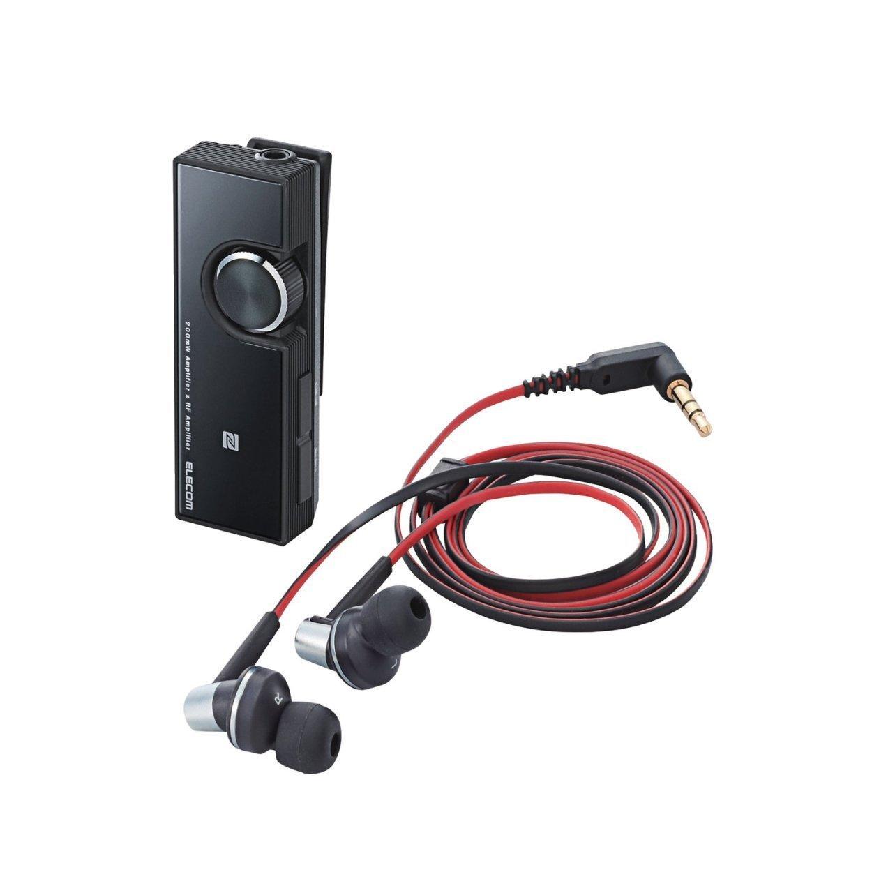NEW ELECOM �Bluetooth Dual Amplifier class1 headset NFC LBT-PHP500AVBK Japan F/S