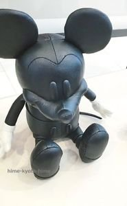 """COACH X DISNEY Mickey Mouse doll Plush Toys Small 13""""Leather Figure Japan FS"""