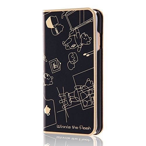 Disney metal book leather case Winnie the Pooh iPhone 6 / 6s RT-DP9N / PO