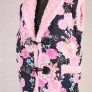 Women's Sakura Kimono pattern Hanten Jacket,Coat,Vest, Poncho Room Wear M-L NEW