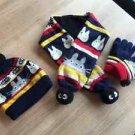 My Neighbor Totoro Knitted hat & Gloves & Scarf SET for Children navy blue FSNEW