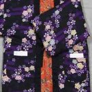 Women Hanten Purple Sakura Cherry blossoms orange reversible coat Roomware M FS