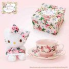 Gift Hello Kitty meets LAURA ASHLEY Tea cup set & mascot Rosa JAPAN FS NEW