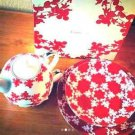 Mickey Mouse Franc franc afternoon tea set pot & cup & Dish Red from JAPAN FS
