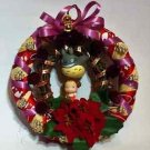 Christmas wreath No.1 My Neighbor Totoro Flying Totoro & Mei handmade JAPAN FS