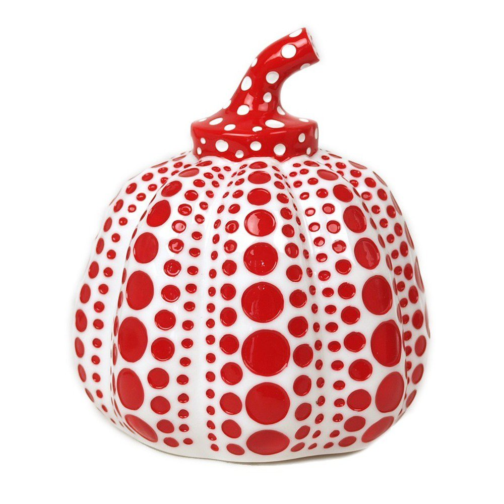 Yayoi Kusama Pumpkin Object White Red Japan Paper Weight Sculpture ornament FS