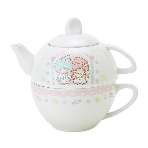 Made in JAPAN 2012 Kiki Lara Little Twin Stars Tea For One set Pot Cup SANRIO FS