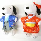 Made in JAPAN! Kimono Snoopy & Bell Plush Doll Yukata Wedding Doll for Gift F/S