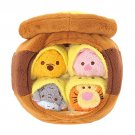Free shipping! Disney TSUM TSUM Pooh & Friends Plush Toy Honey Pot Set JAPAN NEW