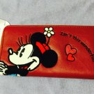Disney Minnie Wallet I'm in fantasy SAGARA purse Red DISNEY STORE JAPAN NEW FS