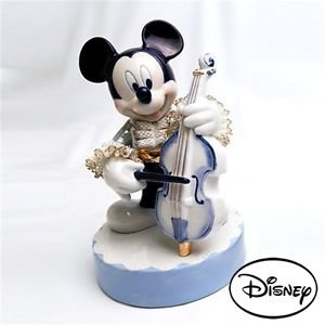 Japan limited Mickey Contra Bath Disney Official Pottery Lace Doll Music Box F/S