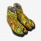 Unisex Japanese Traditional Shoes TABI Shoes Tiger Cotton NINJA Shoes Yellow FS