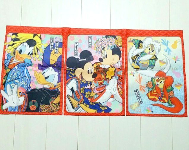 2006 Disney store Japan Mickey & Friends kabuki Noren Curtain Partition Doorway