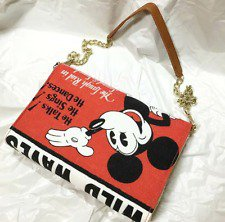 �Disney Mickey Mouse Vintage style poster art 2way Shoulder bag Tote bag NEW FS�
