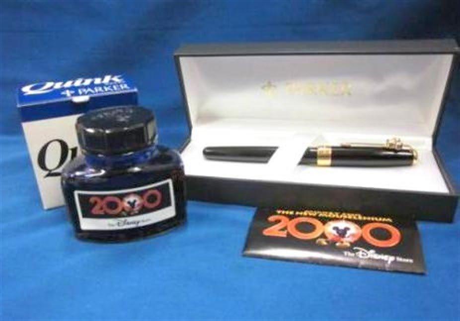 OFFER Disney store limited PARKER Mickey Millennium 2000 Fountain Pen Gift FSNEW