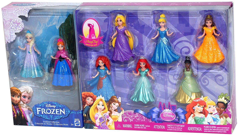 New Disney Princess Magic clip Dolls set Mattel 8 figure Ana Elsa Japan MattelFS
