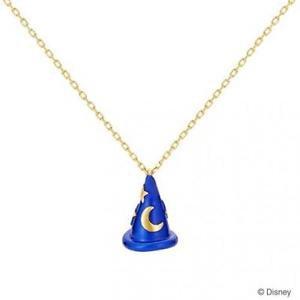 Disney fantasia The Sorcerer's Apprentice Hat Mickey Mouse necklace K18YGpendant
