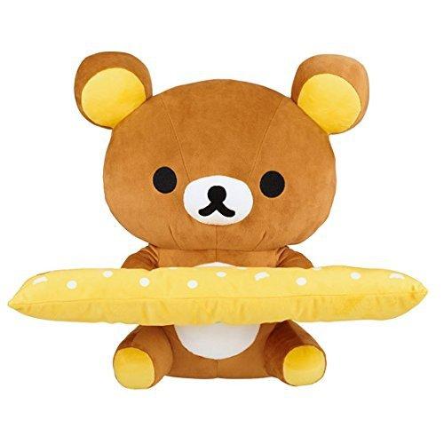 NEW San-X Rilakkuma PC Cushion Stuffed Toy & Armrest doll Japan Free shipping!