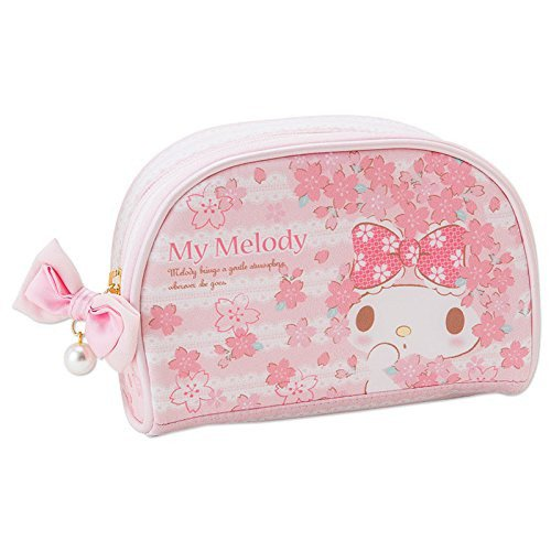 � My Melody Spring SAKURA Cherry Blossoms Pouch Accessory case bag M pink FS �